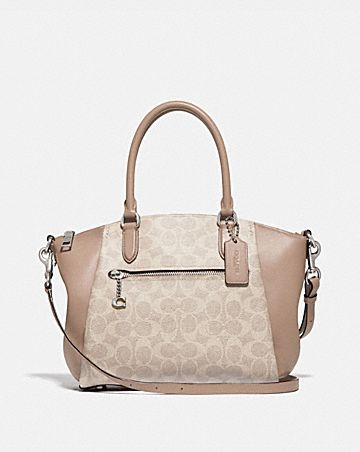 elise satchel in signature canvas