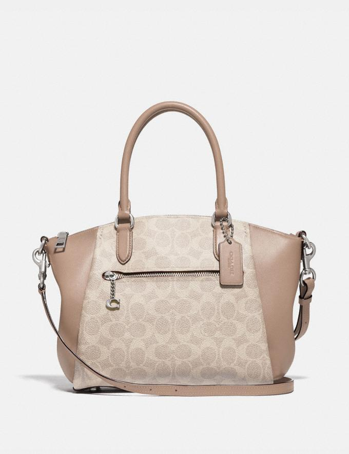 Coach Elise Satchel in Signature Canvas Lh/Sand Taupe New Women's New Arrivals