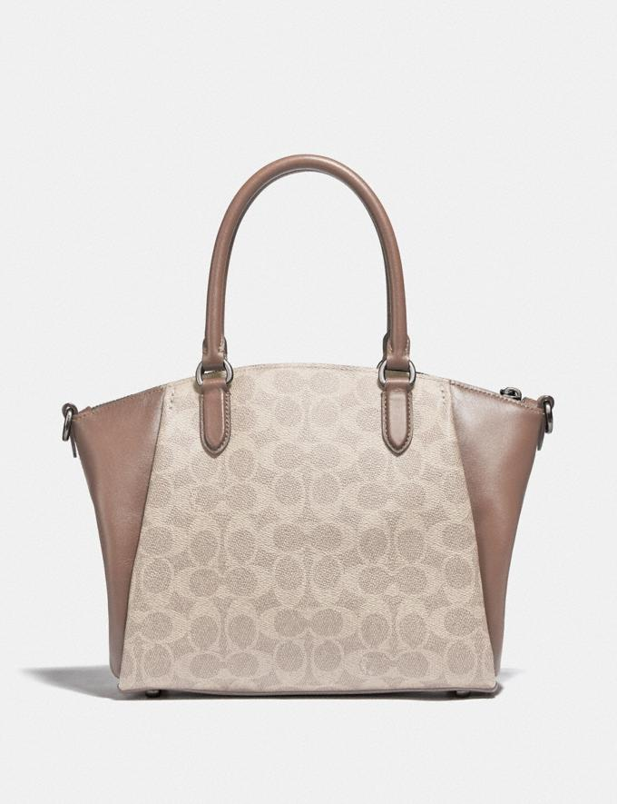Coach Elise Satchel in Signature Canvas Lh/Sand Taupe Women Bags Satchels Alternate View 2