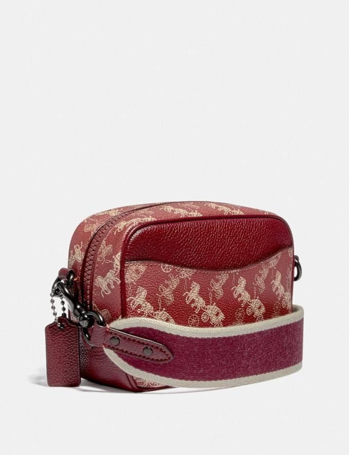 Coach Camera Bag 16 With Horse and Carriage Print and Rainbow Pewter/Red Deep Red Women Bags Crossbody Bags Alternate View 1