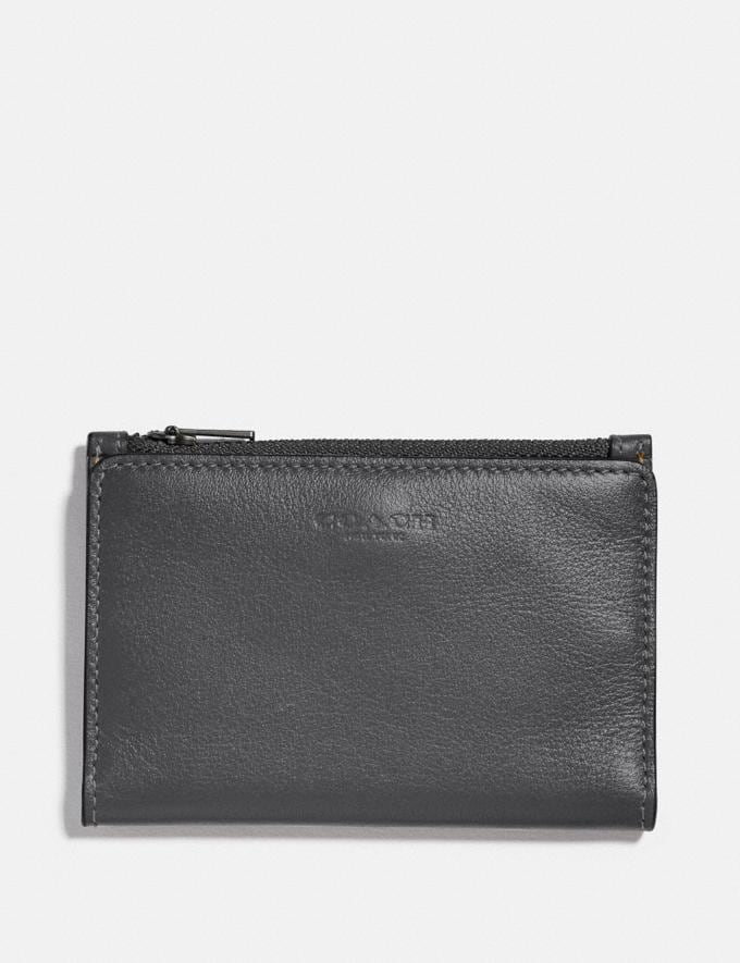 Coach Bifold Zip Card Case Grey/Silver