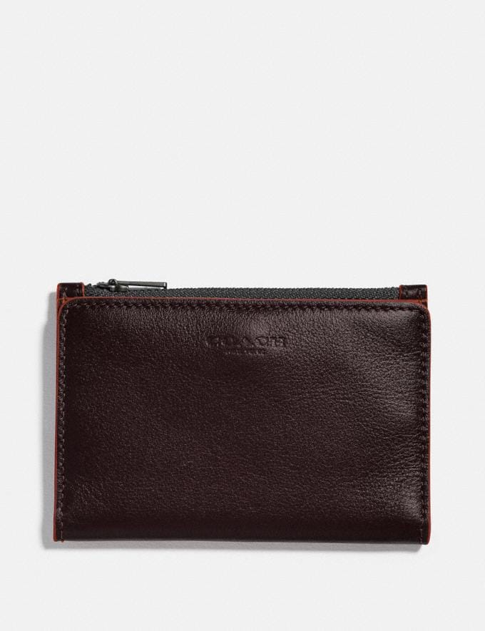 Coach Bifold Zip Card Case Umber/Clay
