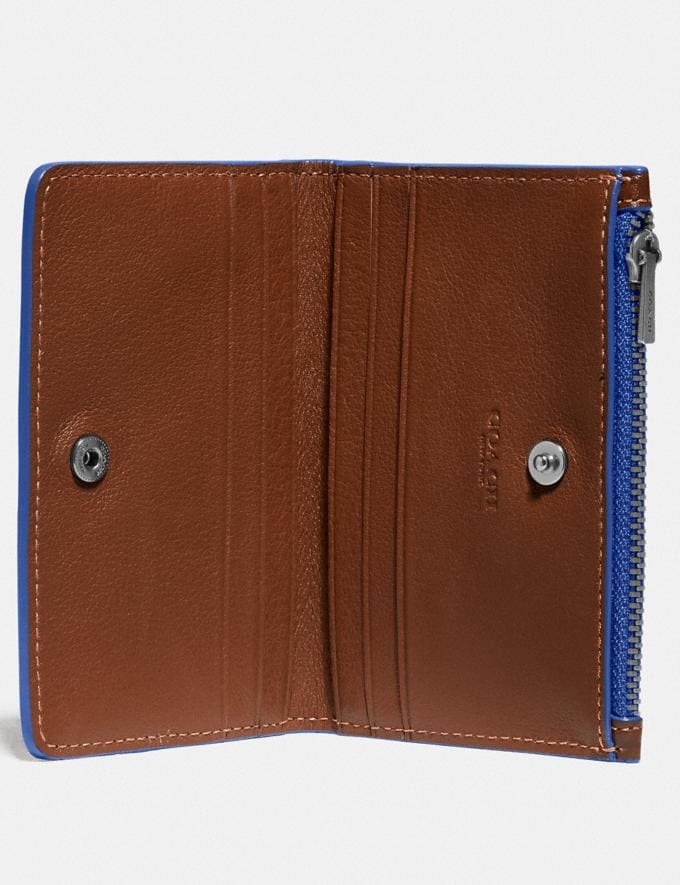 Coach Bifold Zip Card Case Saddle/Sport Blue New Men's New Arrivals Wallets Alternate View 1