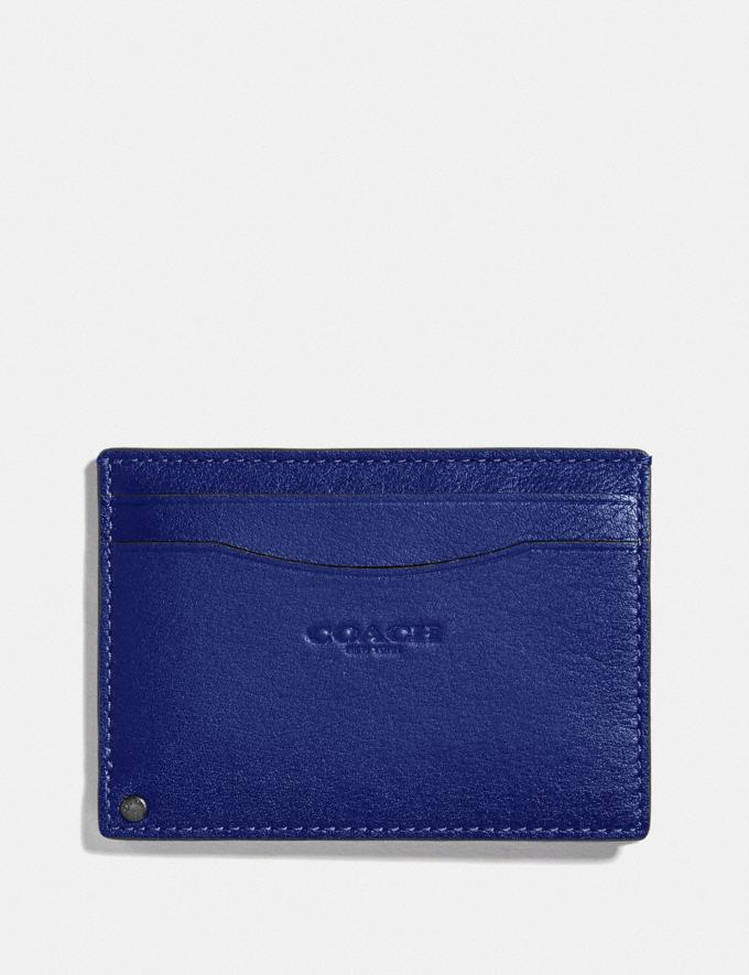Coach Swivel Card Case Sport Blue/Silver New Men's New Arrivals Wallets