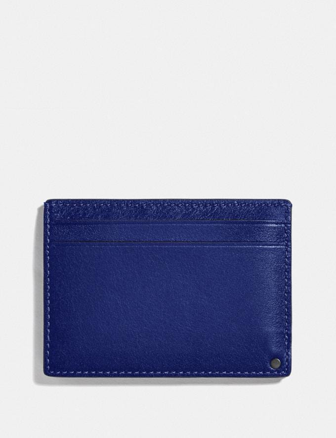 Coach Swivel Card Case Sport Blue/Silver New Men's New Arrivals Wallets Alternate View 2