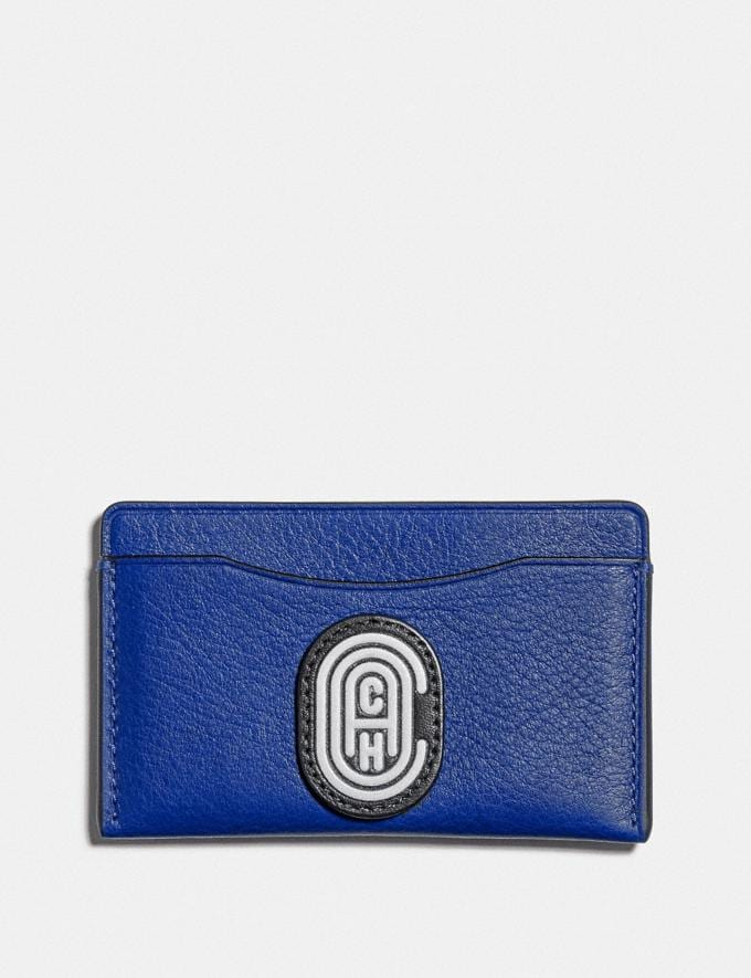 Coach Small Card Case With Coach Patch Sport Blue/Silver
