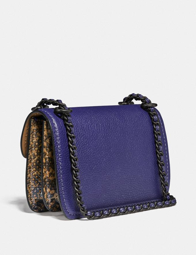 Coach Troupe Crossbody in Colorblock With Snakeskin Detail V5/Cadet Multi Women Bags Crossbody Bags Alternate View 1