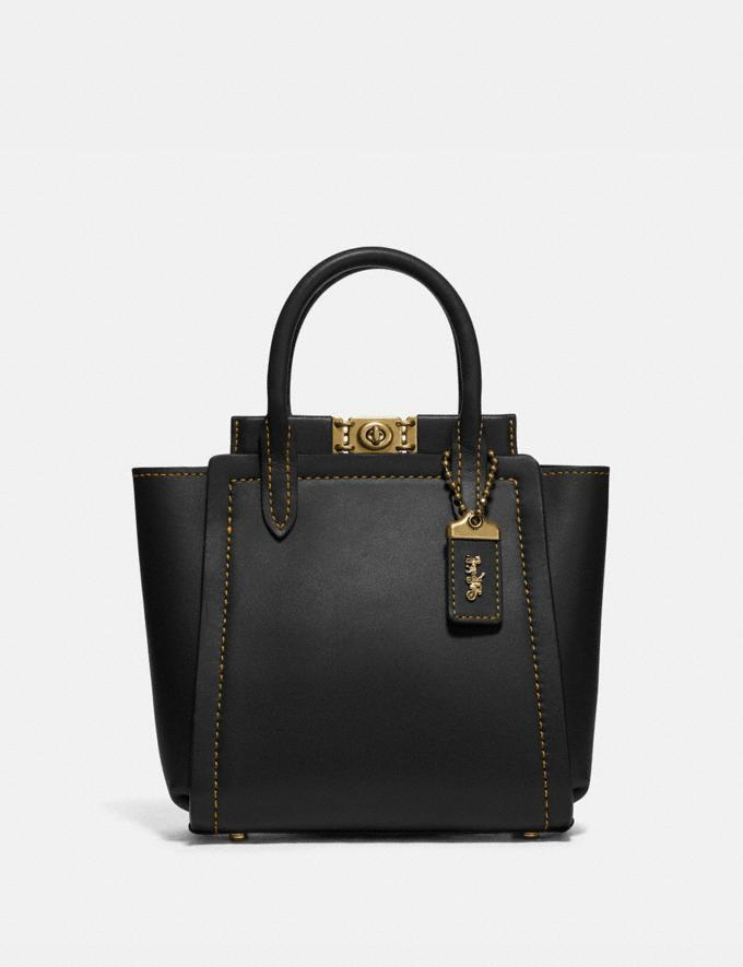 Coach Troupe Tote 16 Brass/Black Bags Collection Troupe