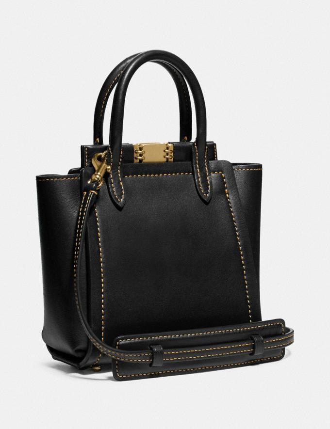 Coach Troupe Tote 16 Brass/Black New Women's New Arrivals Alternate View 1