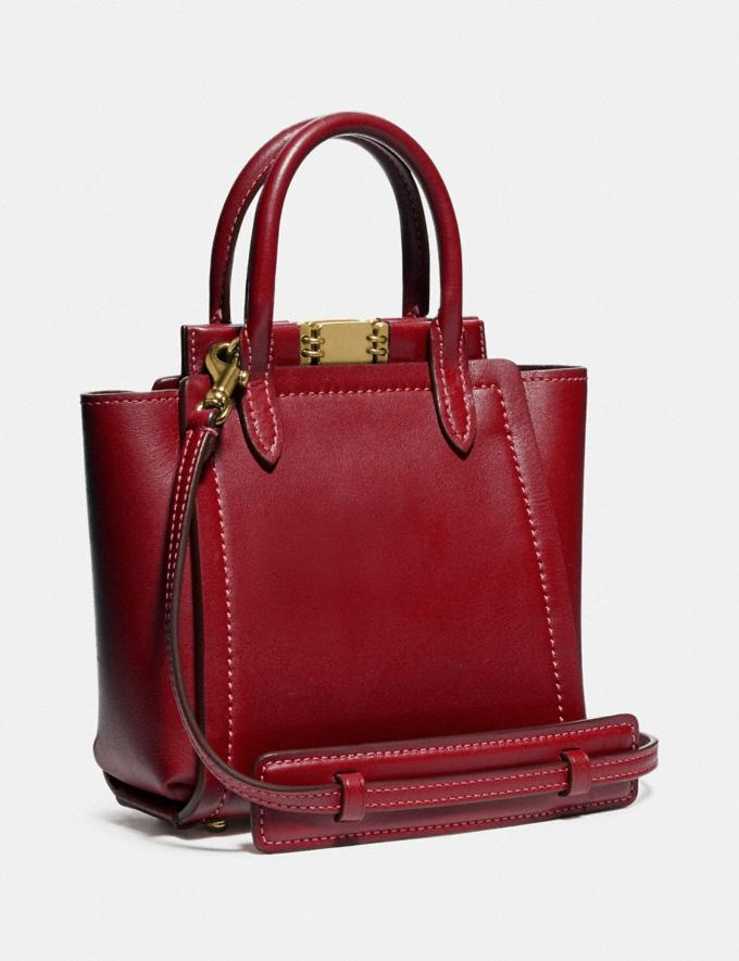Coach Troupe Tote 16 Brass/Deep Red New Women's New Arrivals Alternate View 1