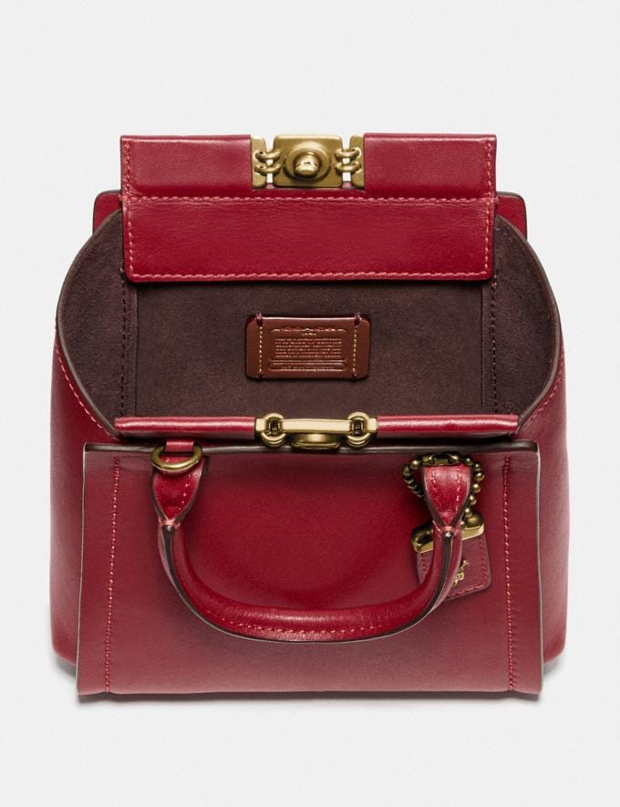 Coach Troupe Tote 16 Brass/Deep Red New Women's New Arrivals Alternate View 2