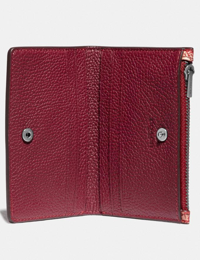 Coach Bifold Zip Card Case With Horse and Carriage Print Red/White Men Wallets Billfolds Alternate View 1