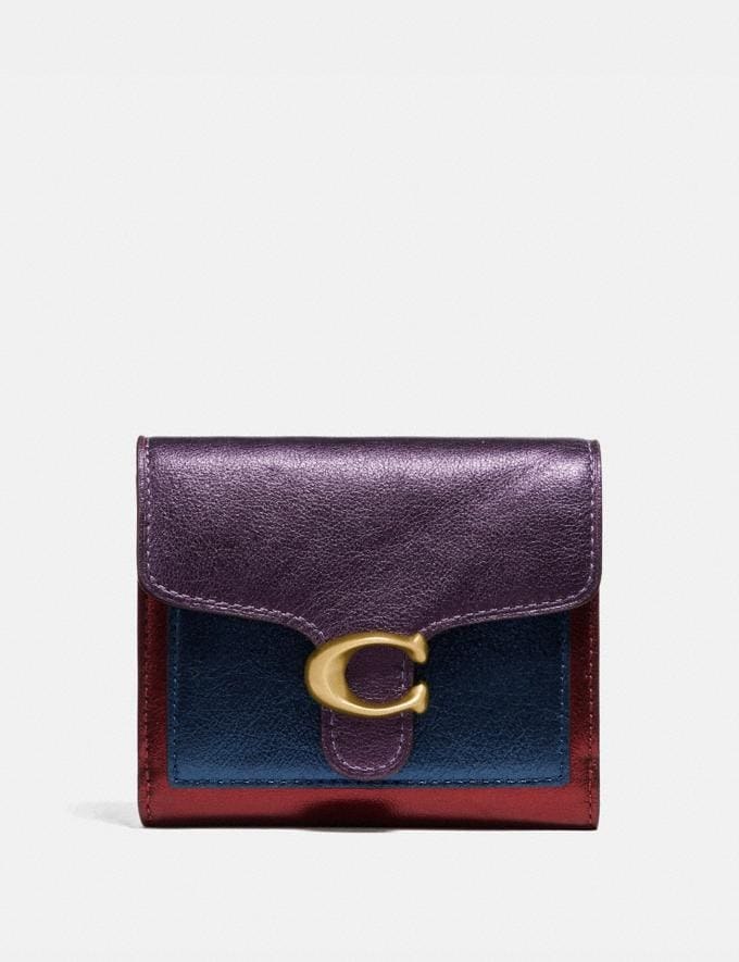 Coach Tabby Small Wallet in Colorblock Brass/Multi Women Small Leather Goods Small Wallets
