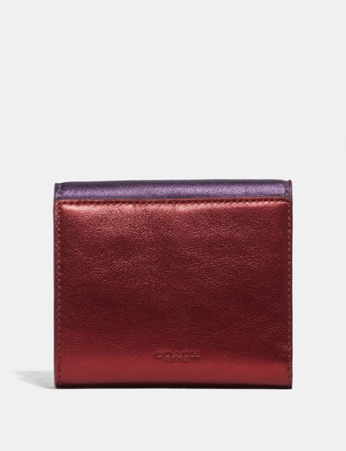 Coach Tabby Small Wallet in Colorblock Brass/Multi Women Small Leather Goods Small Wallets Alternate View 1