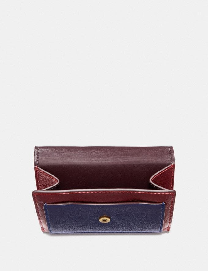 Coach Tabby Small Wallet in Colorblock Brass/Multi Women Small Leather Goods Small Wallets Alternate View 2