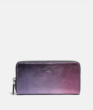 ACCORDION ZIP WALLET WITH OMBRE
