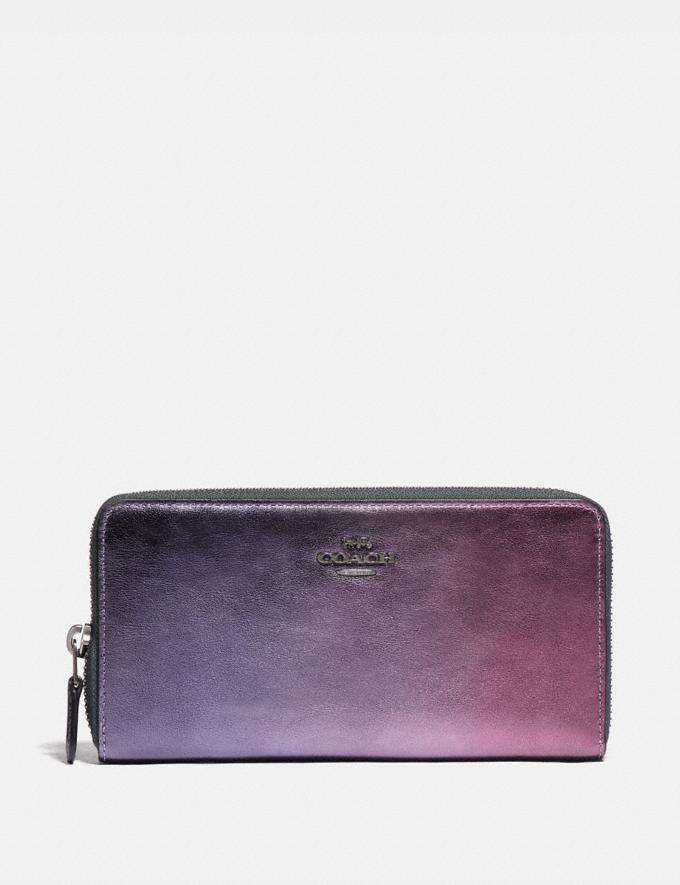 Coach Accordion Zip Wallet With Ombre Pewter/Multi New Women's New Arrivals Wallets & Wristlets