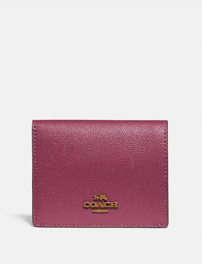 Coach Small Snap Wallet Brass/Dusty Pink Women Accessories Tech & Work