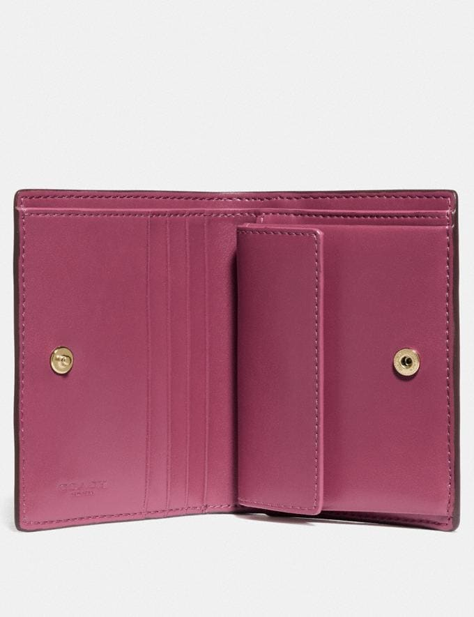 Coach Small Snap Wallet Brass/Dusty Pink Women Wallets & Wristlets Small Wallets Alternate View 1