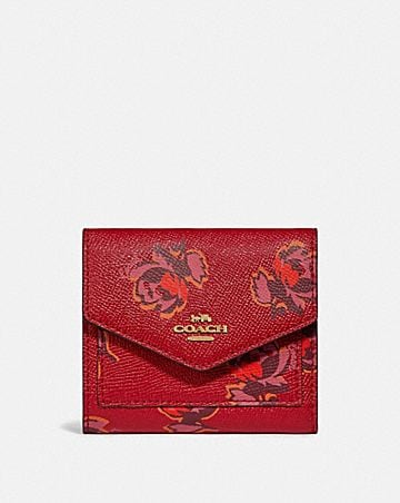 small wallet with floral print