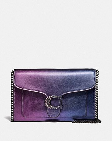 tabby chain clutch with ombre