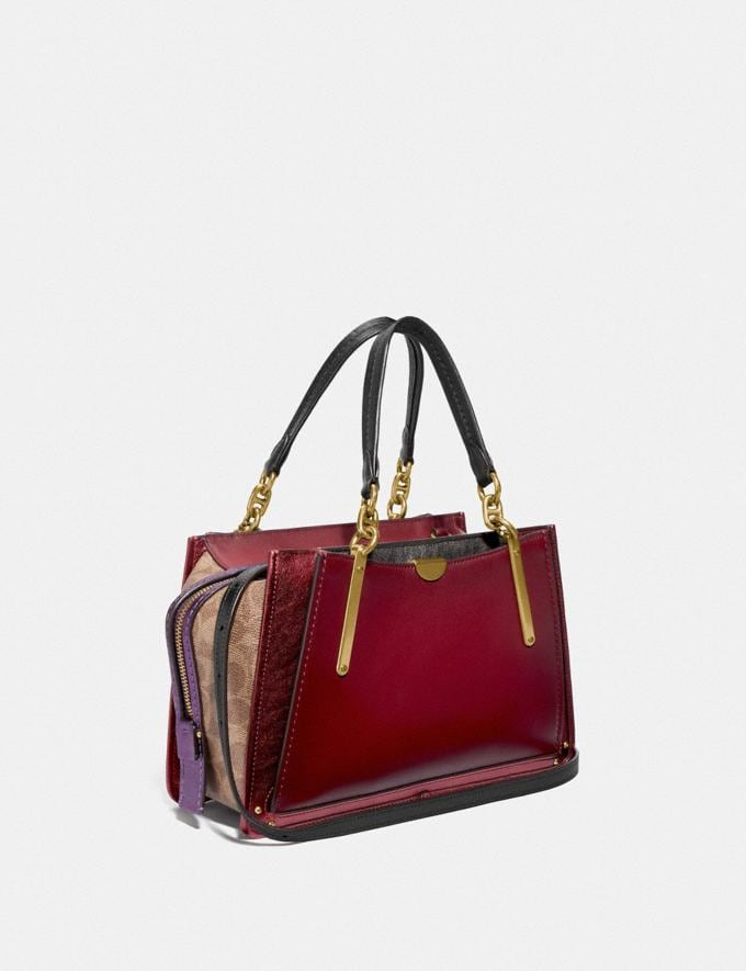Coach Dreamer With Signature Canvas Blocking Brass/Tan Deep Red New Featured 30% off (and more) Alternate View 1