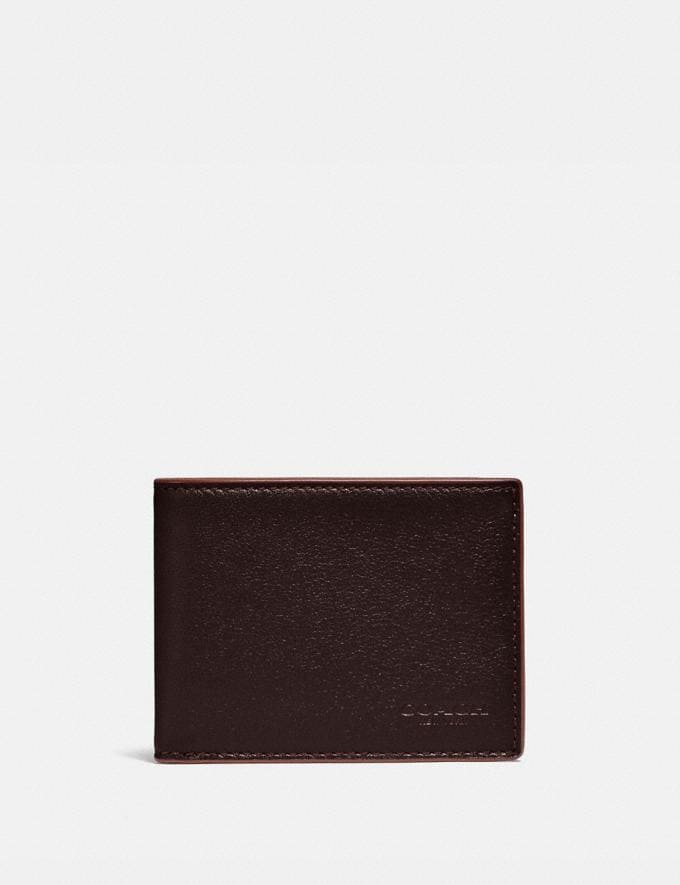 Coach Slim Billfold Wallet Umber/Clay Gifts For Him Under $300