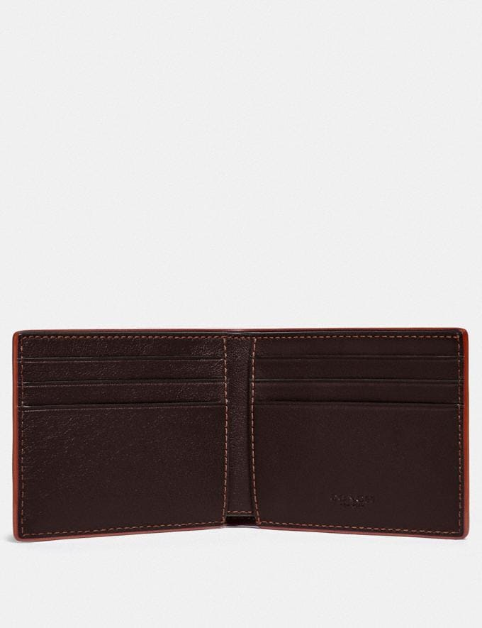 Coach Slim Billfold Wallet Umber/Clay Gifts For Him Under $300 Alternate View 1