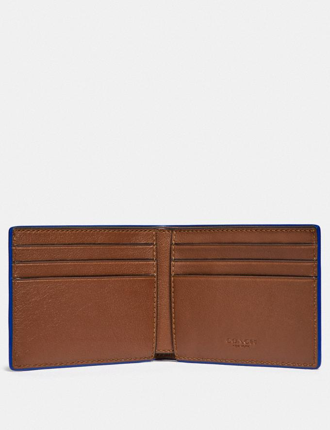 Coach Slim Billfold Wallet Saddle/Sport Blue Gifts For Him Under $300 Alternate View 1