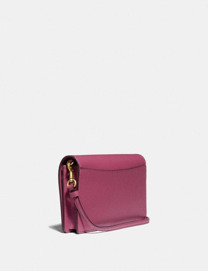 Coach Hayden Foldover Crossbody Clutch B4/Dusty Pink Women Bags Crossbody Bags Alternate View 1