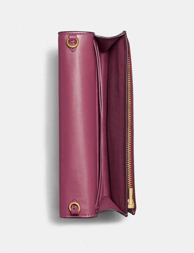 Coach Hayden Foldover Crossbody Clutch B4/Dusty Pink Women Bags Crossbody Bags Alternate View 2