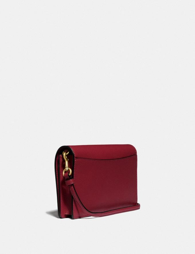 Coach Hayden Foldover Crossbody Clutch Brass/Deep Red Women Bags Crossbody Bags Alternate View 1