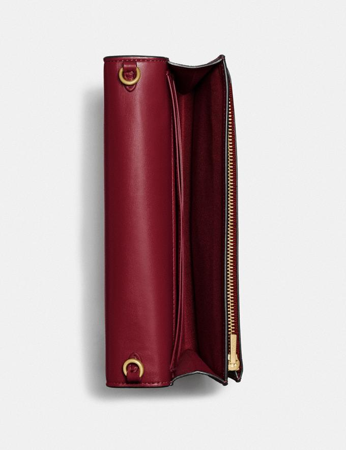 Coach Hayden Foldover Crossbody Clutch Brass/Deep Red Women Bags Crossbody Bags Alternate View 2