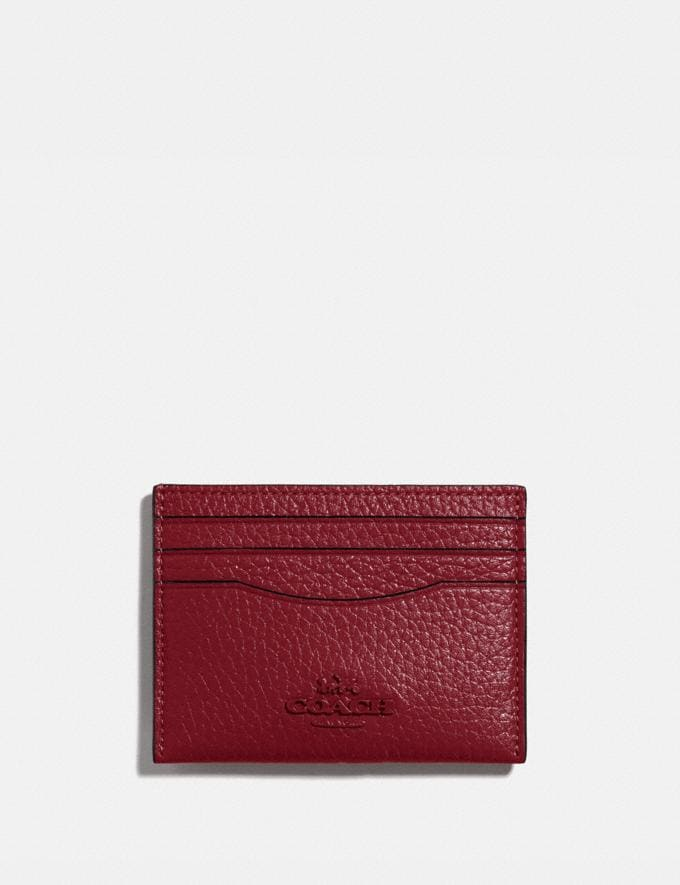 Coach Card Case B4/Deep Red Women Small Leather Goods Card Cases