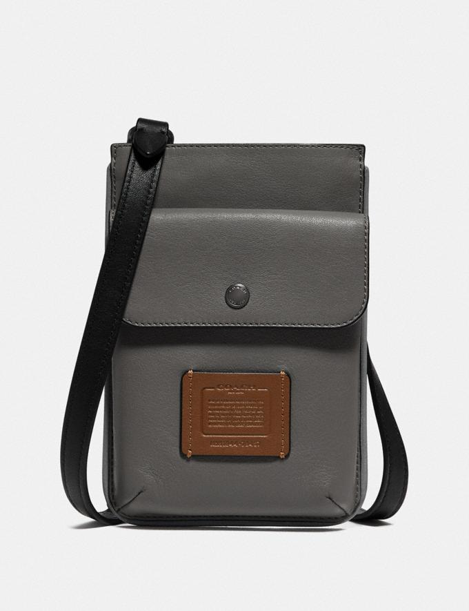 Coach Hybrid Pouch in Colorblock Grey/Silver New Men's New Arrivals Accessories