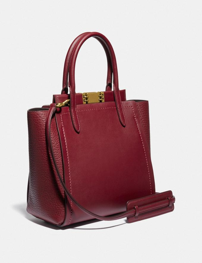 Coach Troupe Tote Brass/Deep Red Bags Collection Troupe Alternate View 1