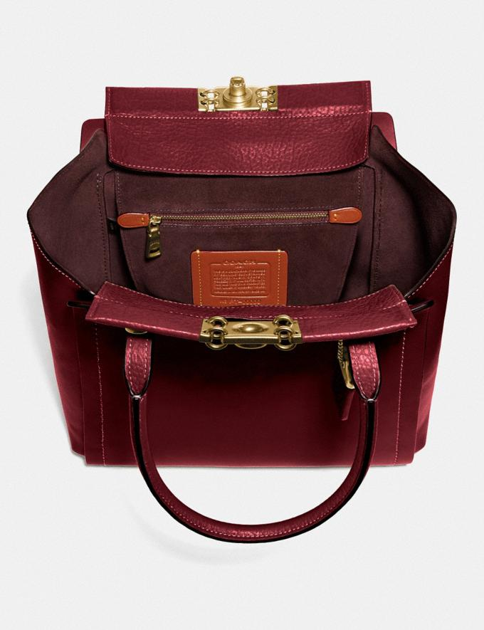 Coach Troupe Tote Brass/Deep Red Women Bags Satchels Alternate View 2