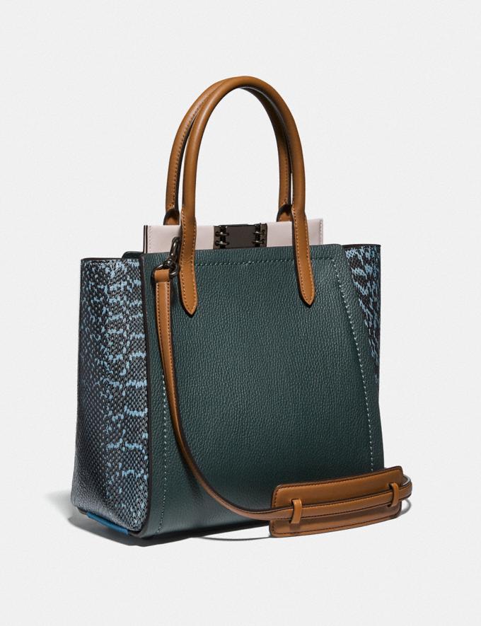 Coach Troupe Tote With Colorblock Snakeskin Detail Pewter/Pine Green/Aurora Multi Women Handbags Satchels & Top Handles Alternate View 1