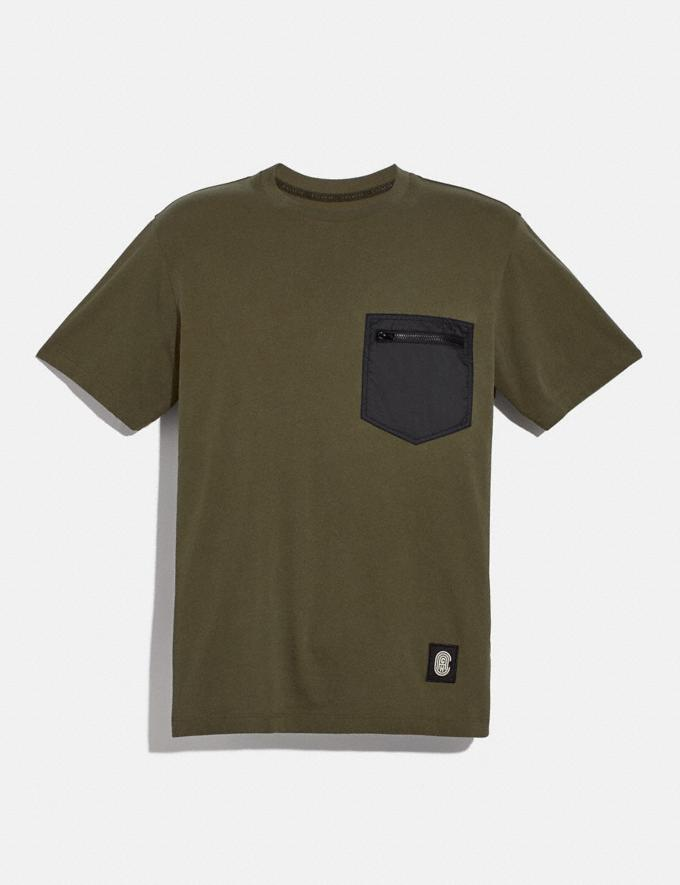 Coach Essential T-Shirt Olive New Men's New Arrivals
