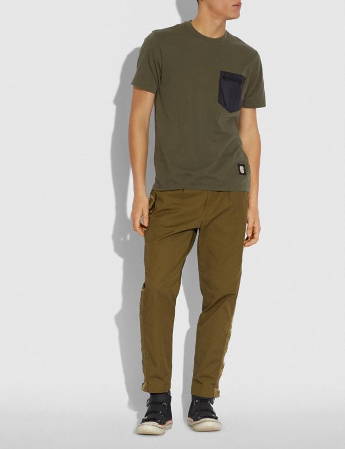 Coach Essential T-Shirt Olive New Men's New Arrivals Alternate View 1