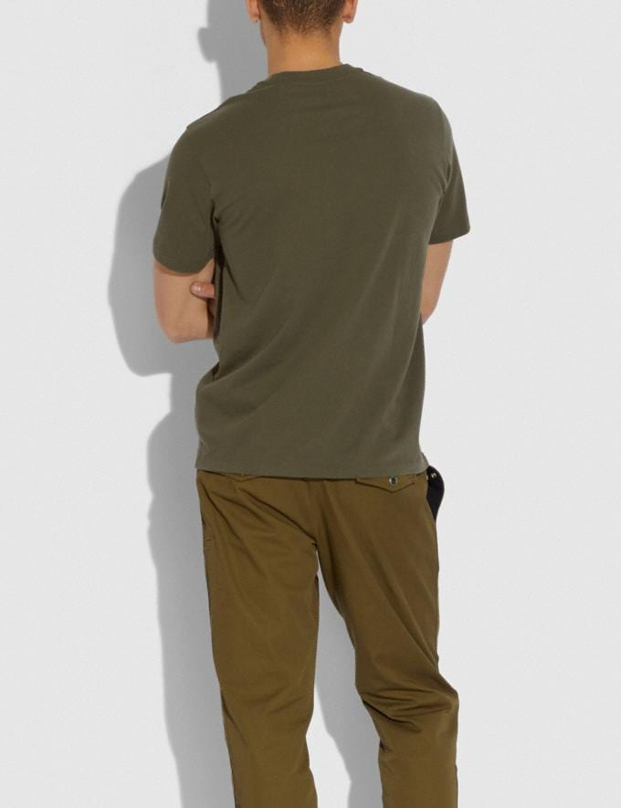 Coach Essential T-Shirt Olive New Men's New Arrivals Ready-to-Wear Alternate View 2
