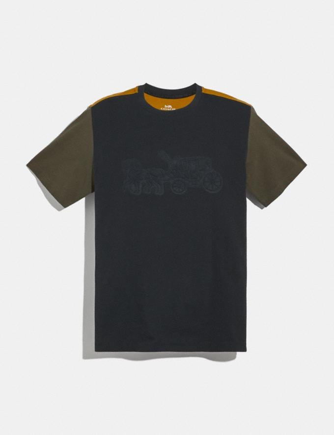 Coach Pop Horse and Carriage T-Shirt Black/Olive New Men's New Arrivals