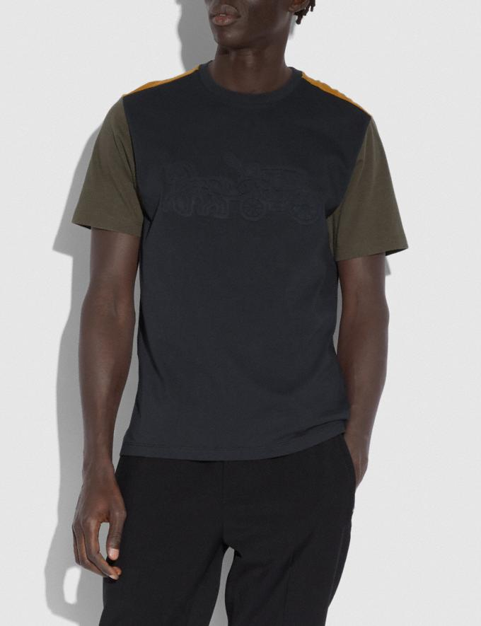 Coach Pop Horse and Carriage T-Shirt Black/Olive Men Ready-to-Wear Tops & Bottoms Alternate View 1