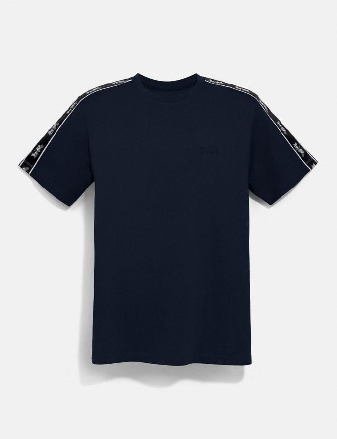 Coach Horse and Carriage Tape T-Shirt Navy New Men's New Arrivals Collection