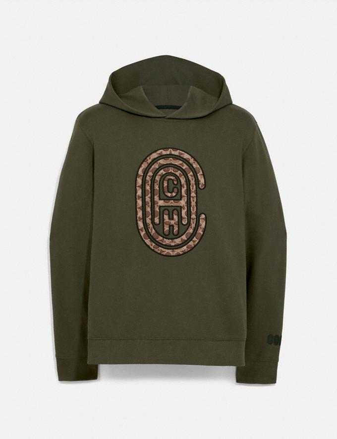 Coach Coach Hoodie Olive Men Edits Travel