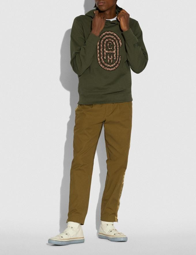 Coach Coach Hoodie Olive Men Ready-to-Wear Tops & Bottoms Alternate View 1