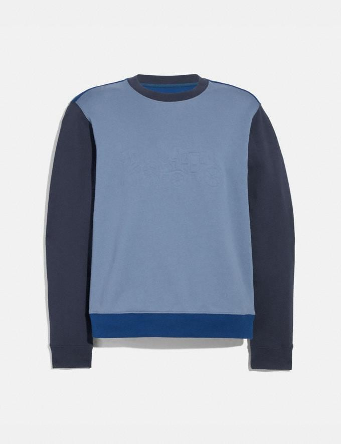 Coach Pop Horse and Carriage Sweatshirt Slate/Navy Men Ready-to-Wear Tops & Bottoms