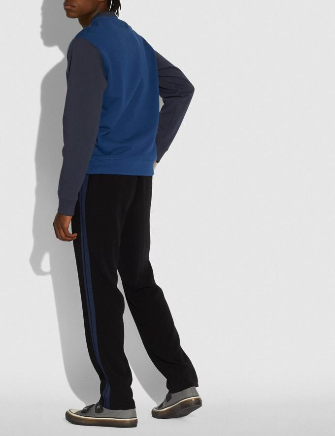 Coach Pop Horse and Carriage Sweatshirt Slate/Navy Men Ready-to-Wear Tops & Bottoms Alternate View 2