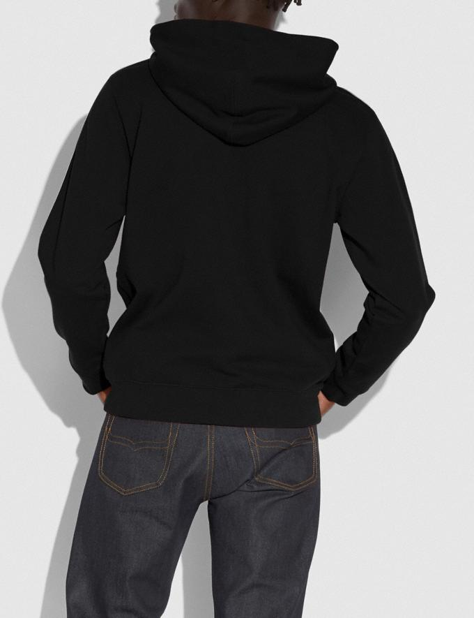 Coach Horse and Carriage Tape Hoodie Black New Men's New Arrivals Ready-to-Wear Alternate View 2