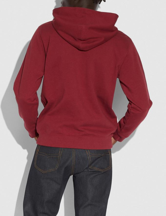 Coach Horse and Carriage Tape Hoodie Dark Cardinal Men Edits Practical yet Cozy Alternate View 2